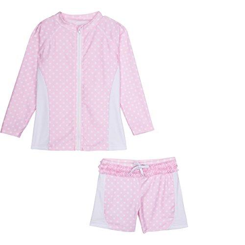 85586525e9 SwimZip Girls Long Sleeve Rash Guard Swim Shorts Set with UPF - Import It  All
