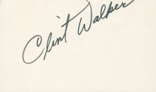 Clint Walker – Signature
