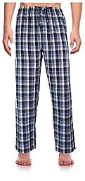 RK Classical Sleepwear Men's Woven Pajama Pants, Size Large