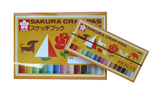 ☆KITERA × サクラクレパス☆コラボ スケッチブック B5サイズ + サクラクレパス 16色セット! 954046