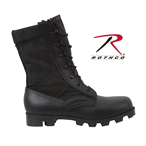 (Rothco 9'' Speedlace Jungle Boot, Black, Regular10)