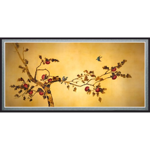 Oriental Furniture Birds on Plum Tree Canvas Wall Art