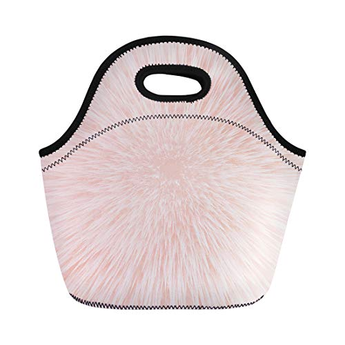 - Semtomn Lunch Bags Red Subtle Pink Brush Coral Watercolor Colorful Nude Abstract Neoprene Lunch Bag Lunchbox Tote Bag Portable Picnic Bag Cooler Bag