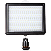 Andoer Photography 160 LED Video Light Lamp Panel 12W 1280LM Dimmable with 2 Filters(white & yellow) for Canon Nikon Pentax DSLR Camera Video Camcorder