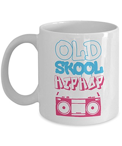 Old School Hip Hop Distressed 90s Radio Cassette Graffiti Coffee & Tea Gift Mug, Gifts, Mugs and Accessories for Hiphop Boys, Girls, Men & Women (11oz)]()
