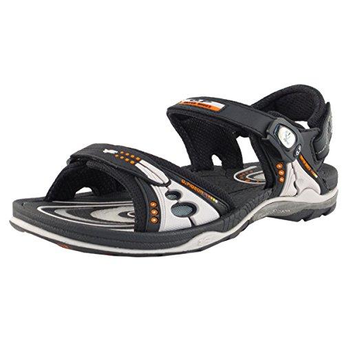 (Gold Pigeon Shoes GP Air Cushion Sandals for Women & Men: 7676 Black Grey, EU40)