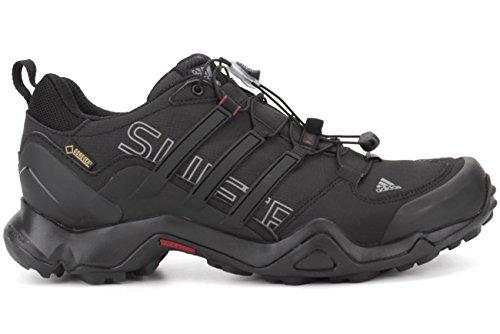 Adidas Outdoor Mens Terrex Swift R Gtx Nero / Grigio Vista / Rosso Potere