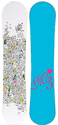 Millinium M3 Star Ez Rocker Girls Womens Snowboard 140,136, or 140cm (M3 Star Rocker, 136cm) ()