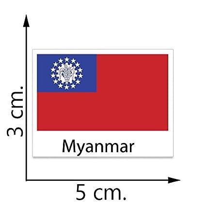 Amazoncom Myanmar Flag Temporary Tattoos Sticker Body