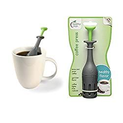 1 Coffee Press Single Serve 1 Cup Brew Maker French Pressed Grounds Filter Tool