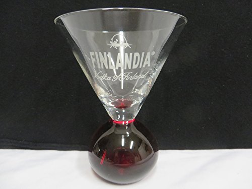 (Finlandia Red Bottom Glass)
