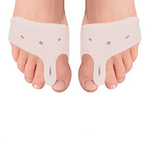 Bunion Pad Spacer Kit Soft Gel Toe Separators & Bunion Cushions - One Size Fits All Bunions Treatment - Fast Bunion Relief - Wear with Shoes 5 Pairs