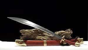 Handmade Single-Handed Dao Chinese Sword Folded Steel Blade Brass Fittings Sharp--rsd401