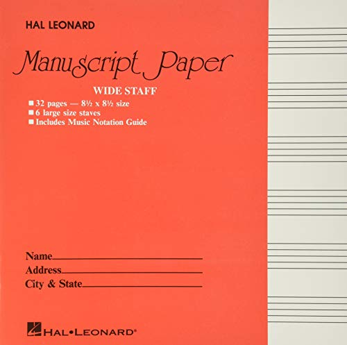 Wide Staff Manuscript Paper (Red Cover) (PAPETERIE) Paperback – January 1, 1986
