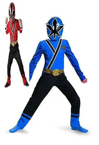 Saban's Power Rangers Super Samurai Child's Costume 2pc set Size 4 - 6x (Red and Blue Ranger) (Power Ranger Clothes)