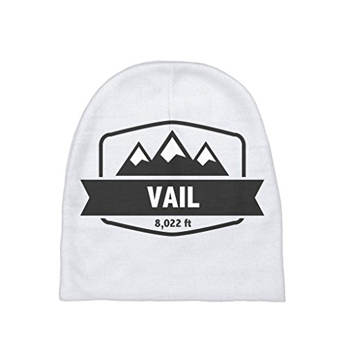 Badge Beanie - Vail Altitude Badge - Colorado Unisex Baby Beanie