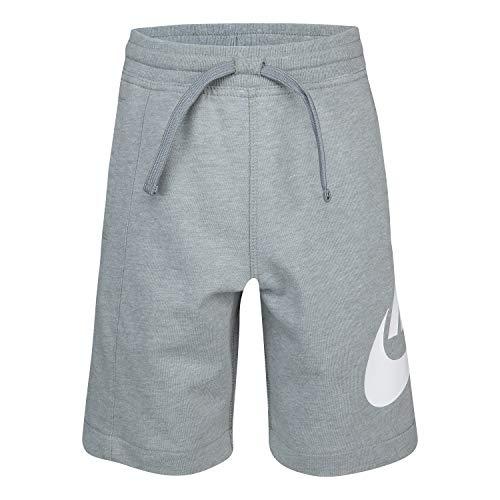 NIKE Children's Apparel Boys' Little Alumni Shorts, Dark Grey Heather, 7 (Alumni Clothing)