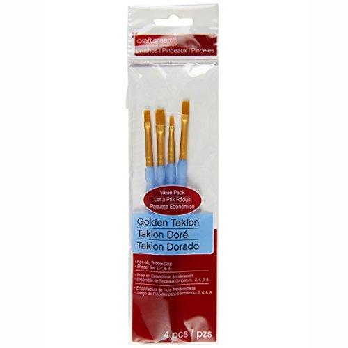 Golden Taklon Shader Brush Set By Craft Smart, 4 -