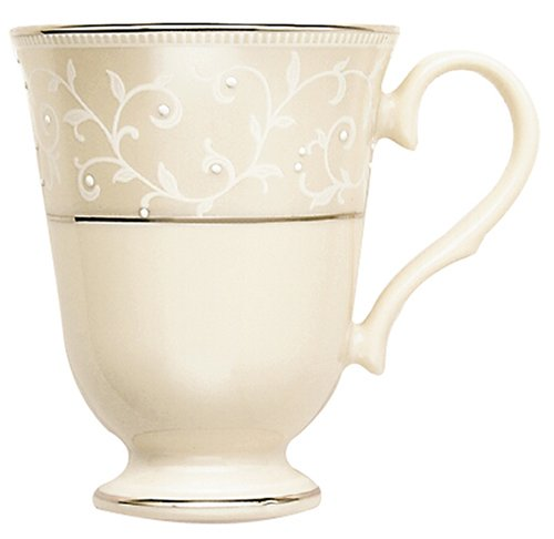 - Lenox Pearl Innocence Platinum Banded Ivory China Accent Mug