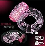 STEPHANIIE order vibrating ring, cock ring, sex toy, sex vibrator, massager. penis ring 100pcs/lot-pink