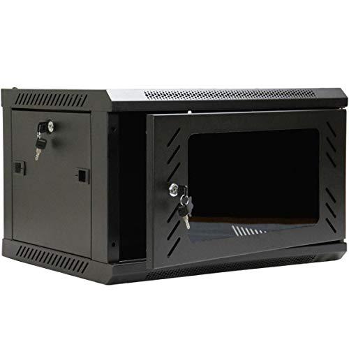 (NavePoint 6U Wall Mount Consumer Series Server Cabinet Network Enclosure Locks, Fan)