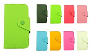 Fancy PU Leather cute Wallet Case Cover skin With Magnetic flap closure Diary for SAMSUNG GALAXY RUSH M830 (green)