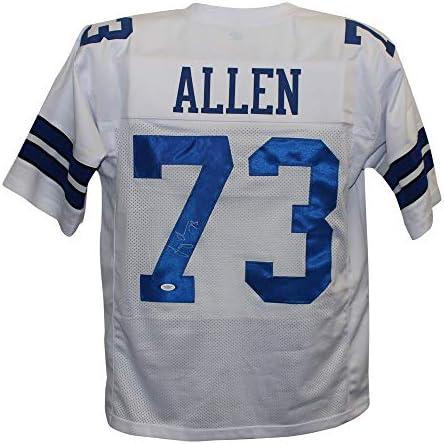 Larry Allen Autographed/Signed Pro Style White XL Jersey JSA