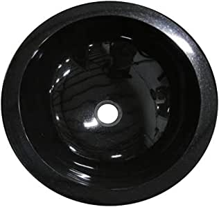 Amazon.com: Absolute Black Granite Round Bathroom ...