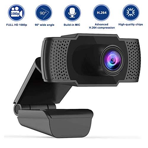 🥇 swonuk Full HD 1080P Cámara Web con Micrófono de Reducción de Ruido Computadora Webcam Portátil PC para Videollamadas