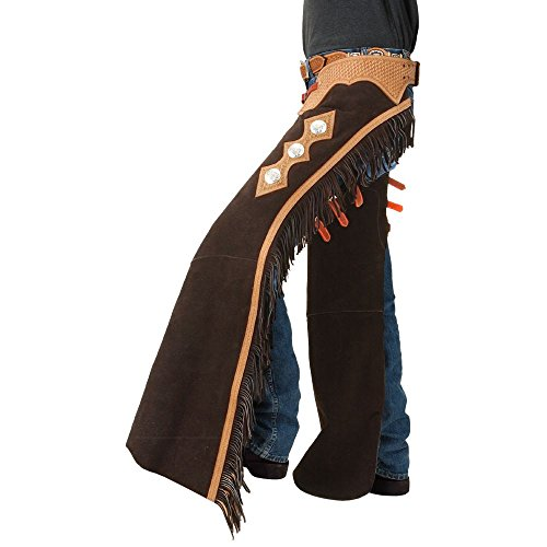 Tough 1 Suede Leather Reining Show Chaps Small Bro ()