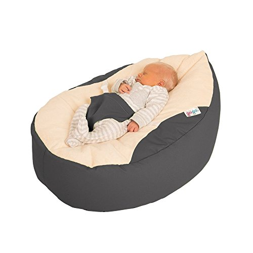 Prime Rucomfy Luxury Cuddle Soft Gaga Baby Bean Bag Grey Bralicious Painted Fabric Chair Ideas Braliciousco