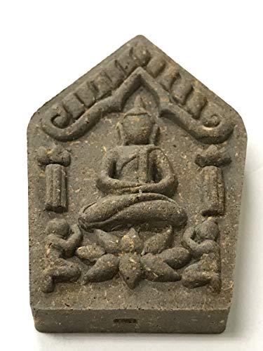 Lp Nim Wat BuddhaMongkol Be2558 Buddha Meditate On Lotus Flower With 2 Disciples Genuine Lucky Fortune Thai Amulet Pendant