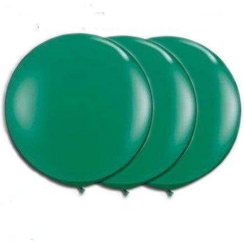 36 Inch Giant Round Green Latex Balloons by TUFTEX (Premium Helium Quality) Pkg/3 for $<!--$9.99-->