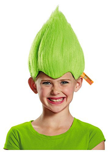 Troll Wig - #1 Quality Colorful Troll Costume Hair - 5 Colors Available - Cosplay Troll Wig (Green) -