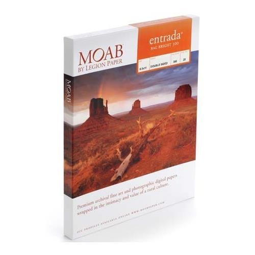 Moab Entrada Rag Bright 300 Paper (8.5 x 11', 25 Sheets)