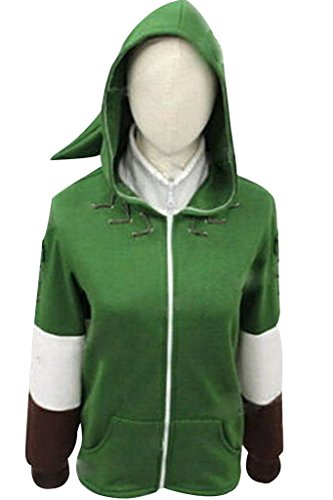 [The Legend of Zelda Link Hooded Coat Cosplay Costume] (Cosplay Costume Zelda)