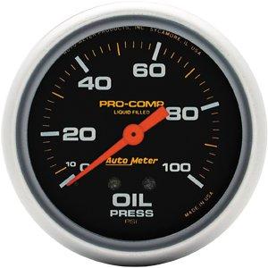 Auto Meter 5421 Liquid-filled Oil Pressure Gauge by Auto Meter