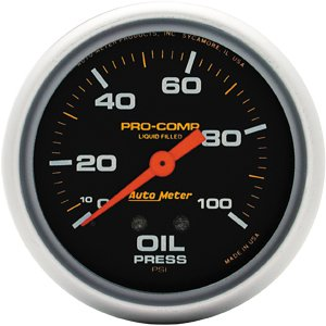 (Auto Meter 5421 Liquid-filled Oil Pressure Gauge)