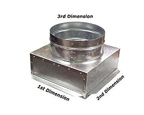Return Air Plenum - C-Box HVAC Plenum Ceiling Box 12 x 12 x 8 Round-Connects to Vent Register Diffuser