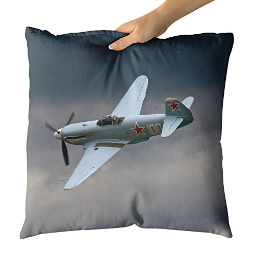 Original Cockpit Bomber - Westlake Art Decorative Throw Pillow - Pilot Plane - Photography Home Decor Living Room - 18x18in (a30z)