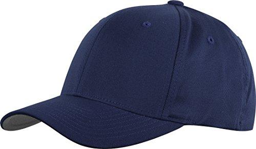 Structured Cotton Twill Baseball Cap (Flexfit Structured Twill Cap, Navy, X-Large / XX-Large)