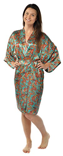 Leisureland Satin Charmeuse Kimono Robe 42
