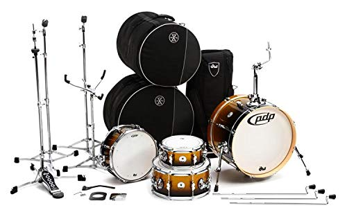 Drum Black Sparkle - PDP Daru Jones New Yorker 4-Piece Drum Set - Gold to Black Sparkle Fade