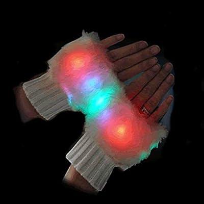 blinkee Faux Fur LED Fingerless Gloves by: Toys & Games