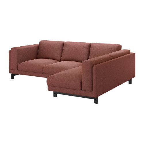 Ikea Cover for 3-seat sectional, left, Tallmyra rust 1428.52926.2218