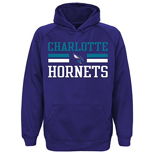 NBA Youth 8-20 Hornets performance hood, S(8), Hornets Purple