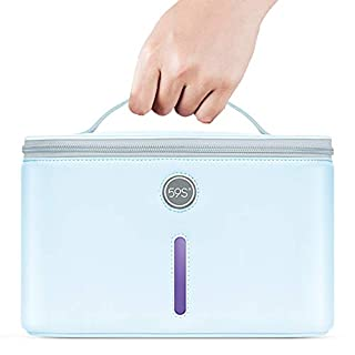 UV Light Sanitizer Bag, UV Disinfection Box, UVC Cleaner Disinfection Lamp Compact for Mobile Phone, Clothes, Glasses Kills 99.9% of Germs Viruses & Bacteria 59S P55