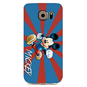 The Disney Mickey Mouse Silicone Case Hard Shell Case,Samsung Galaxy S6 edge Phone Case,Protective Personalized Phone Case Cover For Samsung Galaxy S6 edge