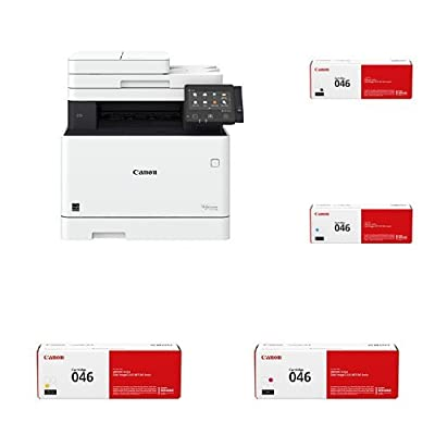 Canon Office Products MF733Cdw imageCLASS Wireless Color Printer with Scanner, Copier & Fax with Original Black, Cyan, Magenta and Yellow Toner Cartridges