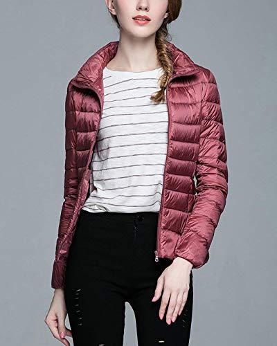 Puffer Down Pink Long Jacket Women Jacket Lightweight Sleeve Vdual Packable Winter xHIpxvw